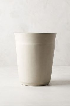 Turned Concrete Trash Can - anthropologie.com