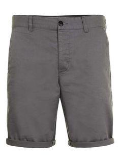 Grey Slim Chino Shorts - Men's Shorts & Swimshorts - Clothing - TOPMAN