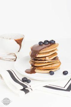 Glutenfreie und vegan Pfannkuchen mit Kastanienmehl