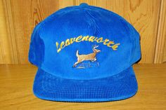 450af257e381c LEAVENWORTH Original Vintage 90s Blue Colored by HatsForward Snapback Hats