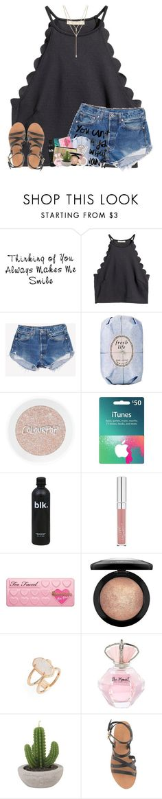"""her "" by theblonde07 ❤ liked on Polyvore featuring WALL, H&M, Fresh, Too Faced Cosmetics, MAC Cosmetics, Kendra Scott, J.Crew, Vince Camuto and emxlyloves"