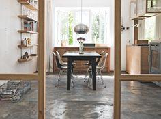 La maison d'Anna G.: Wood, concrete & vintage
