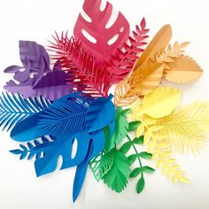 Excited to share this item from my shop: Pride decor, Rainbow Paper leaves, pride leaves, leav Rainbow Paper, Rainbow Art, Paper Flower Backdrop, Giant Paper Flowers, Safari Decorations, Rainbow Decorations, Candy Trees, Jungle Theme Parties, Flower Wall Wedding