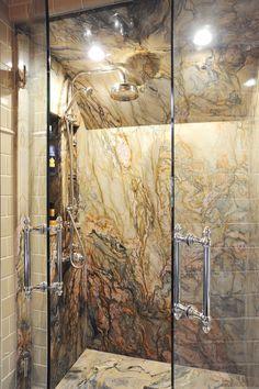 Mind Blowing Tricks: Shower Remodel On A Budget Bathtubs walk in shower remodel grey tiles.Open Shower Remodel small shower remodel on a budget. Granite Shower, Tub To Shower Remodel, Bath Remodel, Stone Shower, Fiberglass Shower, Walk In Shower Designs, Bathroom Design Luxury, Small Bathroom, Bathroom Showers
