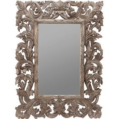 Wall mirror with a scrolling mango wood frame and gold crackle finish.   Product: Wall mirrorConstruction Material: ...