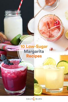 Instead of buying artificially flavored mixes, try these homemade margarita recipes that cut down on sugar but still taste great! via @dailyburn
