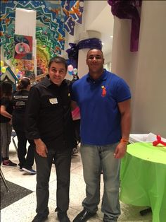 Martin Ayanegui and Houston Texans Christian Covington  95 DE at Sunshine Kids Event