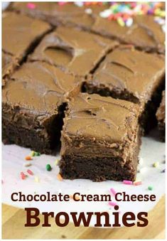 Chocolate Cream Cheese Frosting, Brownie Frosting, Perfect Chocolate Chip Cookies, Chocolate Chip Cookie Bars, Chocolate Chip Oatmeal, Dessert Chocolate, Chocolate Brownies, Buttercream Frosting, Brownie Recipes