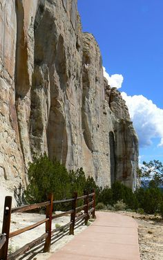 El Morro National Monument in northern New Mexico offers scenic views and messages from the past. Long before man could write, visitors have been leaving their mark here. View Anasazi handprints, messages from Spanish explorers and poems carved into the stone by western adventurers. It's a New Mexico travel experience that's off-the-beaten-path but well worth it. Grants is the closest town for lodging and dining.