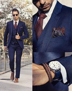 Pin de tj young em clothes classy suits, suit fashion e wedding suits. Style Gentleman, Gentleman Fashion, Dapper Gentleman, Costume Gris, Classy Suits, Stylish Suit, Suit Fashion, Style Fashion, Fashion 2018