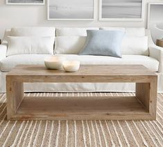 The simple, geometric construction of our Folsom Collection highlights the inherent beauty of the wood. Visible grain and knots give each piece its warm, individual character, and the open design leaves space for inspired styling. Coffee Table Pottery Barn, Diy Coffee Table, Decor, Furniture, Home Furniture, Coffee Table Wood, Elegant Furniture, Coffee Table, Room Decor