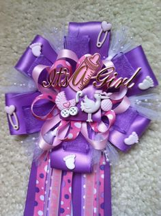 Pink and lavender girl baby shower mum by ModernMumsCollection