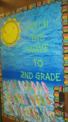 Catch the wave  - only take photos of kids with their hands out, like they're surfing. Looking like a 3-D bulletin board