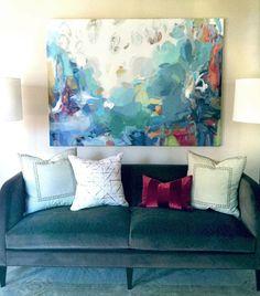 Christina Baker painting | Designer Scarlett James | Julie Couch Interiors