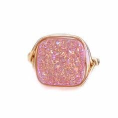 Petite Square Druzy Rings – Wrenn Jewelry