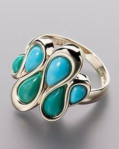 Zauberhafter Goldring mit Türkis - von Sogni d´oro #sognidoro #sogni #doro #schmuck #edelstein #ring #jewelry #gemstone