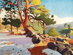 Impression Evergreen: Fillius Ridge - Colored Pencil Drawing