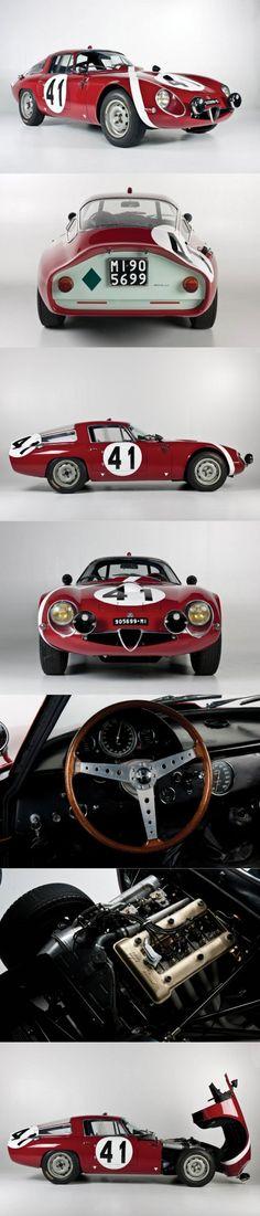 1964 Alfa Romeo Giulia TZ / Tubolare Zagato / Ercole Spada / Italy / competition / red white / 112 produced