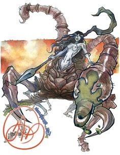 Dark Souls II: Scorpioness Najka by karniz on DeviantArt Scorpio Art, Scorpio Woman, Dark Souls 2, Soul Art, Centaur, Deviantart, Saga, Youtubers, Artist