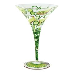 Key Lime Pie Martini Glass | Hand Painted Martini Glass | Designs by Lolita | Official Lolita Store