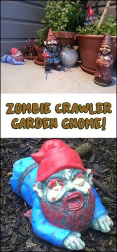 Do you know anyone who would love to have this zombie gnome crawler? :)