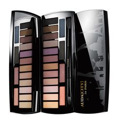 Lancôme Audacity Eyeshadow Palette. Sixteen shades, infinite possibilities for brown, blue and green eyes.