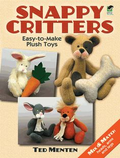 These adorable little creatures are held together by snaps, allowing mix-and-match assembly. Well-illustrated, simple instructions for making 14 critters and accessories: rabbit, mouse, lion, reindeer, lamb, panda, elephant, puppy, and more.