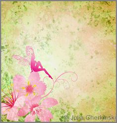 pink little flower fairy on the green spring or summer grunge background http://www.tpt-fonts4teachers.blogspot.com/2013/01/san-valentines-day-free-clip-arts.html
