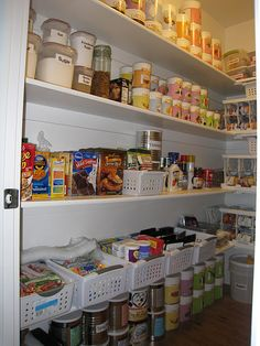 This pantry and basement storage system is beyond inspiring!