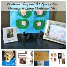 Roundup of Montessori-inspired art appreciation activities for multiple ages; perfect for classroom or homeschool - Living Montessori Now Maria Montessori, Montessori Elementary, Montessori Education, Montessori Materials, Montessori Activities, Craft Activities For Kids, Activity Ideas, Kids Crafts, Preschool Art