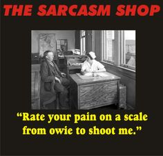 Lupus Humor - Finally a pain scale that makes sense to me! Today I´ll shoot you!!!