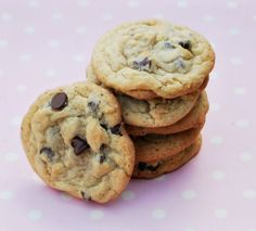 chocolate chip cookies with a secret ingredient that makes them bakery quality, chewy and gooey. You must try this! It will be your go to recipe for chocolate chip cookies.