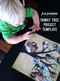 My kids loved helping me make our family tree with this easy template.