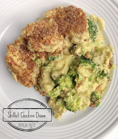 Paleo Skillet Chicken Divan - Dairy Free Gluten Free - love using cashews instead of cheese and flax seed instead of breadcrumbs ___ More Recipes? Visit our site now! Paleo Chicken Recipes, Primal Recipes, Dairy Free Recipes, Real Food Recipes, Cooking Recipes, Healthy Recipes, Gluten Free, Skillet Recipes, Cooking Tips