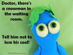 cute & clean snowman kids joke for children featuring an adorable blue boy :)