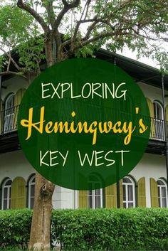 Touring Ernest Hemingway's Key West with visits to Blue Heaven, Hemingway House, Key West Lighthouse, Sloppy Joe's Bar, and Casa Antigua. The Florida Keys, Florida