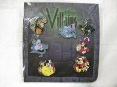 Amazon.com: 7 Piece Disney WDW Pin Collector Series Set Villians 2010: Toys & Games