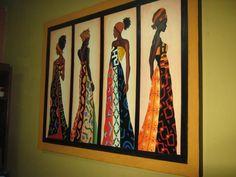 Cuadros etnicos patchwork quilts