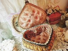 beautiful sewing basket