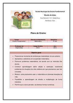 Escola Municipal de Ensino Fundamental                                                  Mundo do Saber                    ...