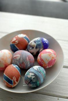 Silk Dyed Easter Eggs