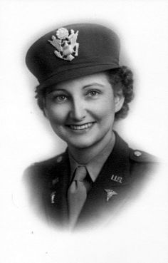 """Marcella Zaborac of Englewood, Fla. came ashore on Normandy beach in August 1944 with Gen. She served as a nurse with the Evacuation Hospital in """"Ol' Blood-N-Guts"""" … Military Women, Military History, Ww2 Women, Military Art, Great Women, Amazing Women, George Patton, Medical History, Strong Women"""
