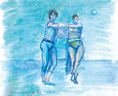 Ballettprobe/Aquarell/Farbstift ©Tobias Windlinger