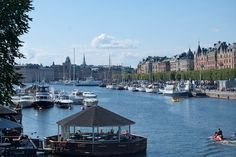Stockholm, Sweden. View of Strandvagen, seen from Djurgardsbron.  I was home blind when I lived there... forgot how beautiful my Sweden really is:-)