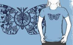 t-shirt --Polyphemus Moth Paper-Cut by thethinks