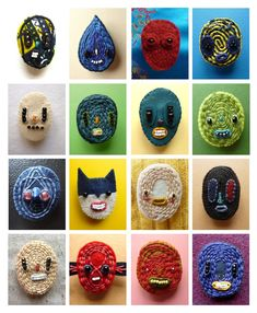 Quirky Brooches.  Love.  Charming Faces by Lucie van der Elst. - Art is a Way
