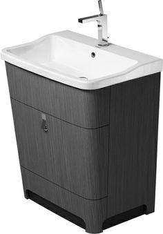 Duravit vanity with sink; tapered