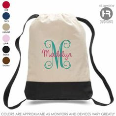 Preppy Monogram Sports Backpack – Personalized Backpack – Printed Monogram Bag – Graduation Gift – Birthday Gift – Christmas Gift