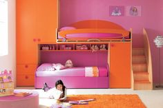 Pi ces pour enfant on pinterest awesome beds bunk bed and chalkboard walls - Lit superpose filles ...
