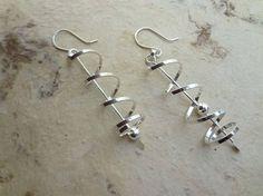 Swirl Dangle Earrings. Handmade Sterling Silver. Twisted Earrings. Lightweight, Minimalist & Modern. Gift for Her. Naku Jewelry
